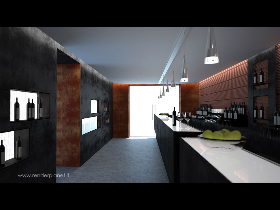 modern kitchen rendering