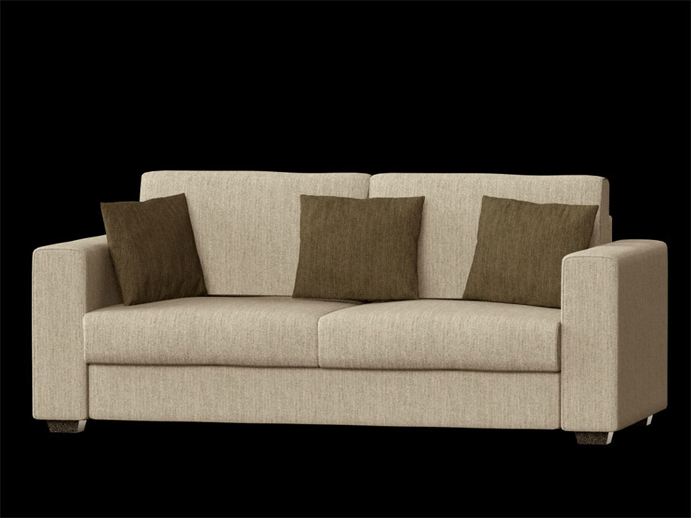 Fabric sofa rendering