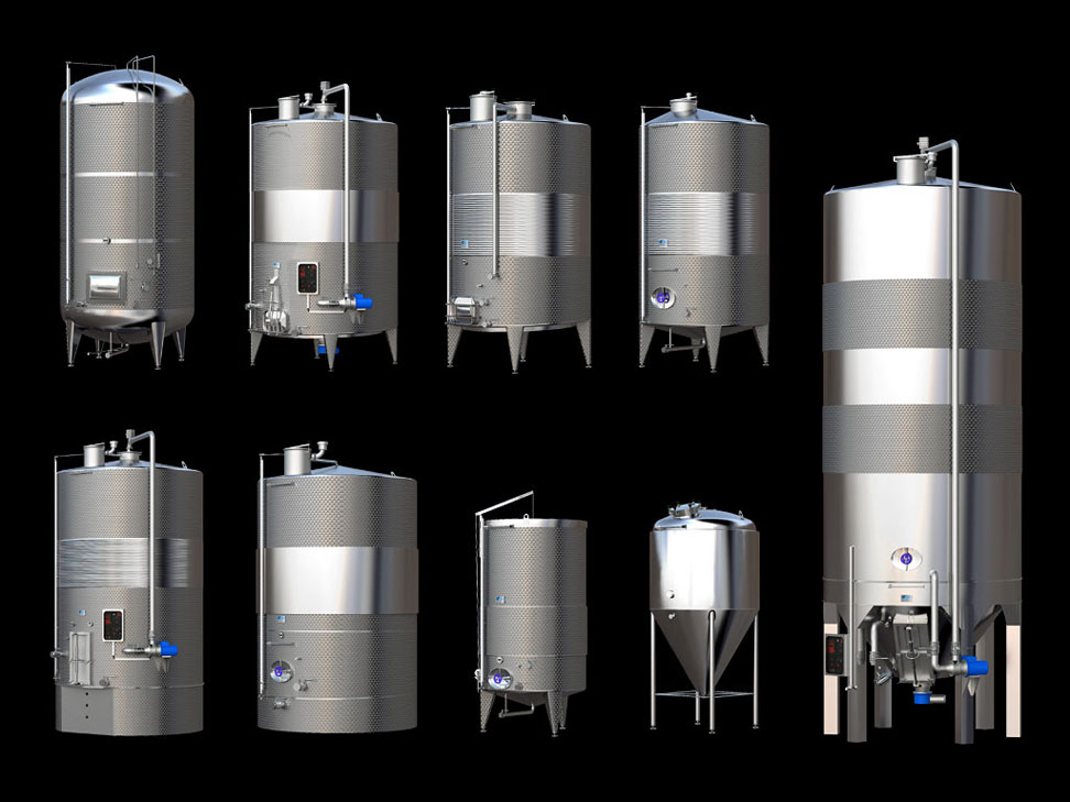 Stainless steel tanks rendering